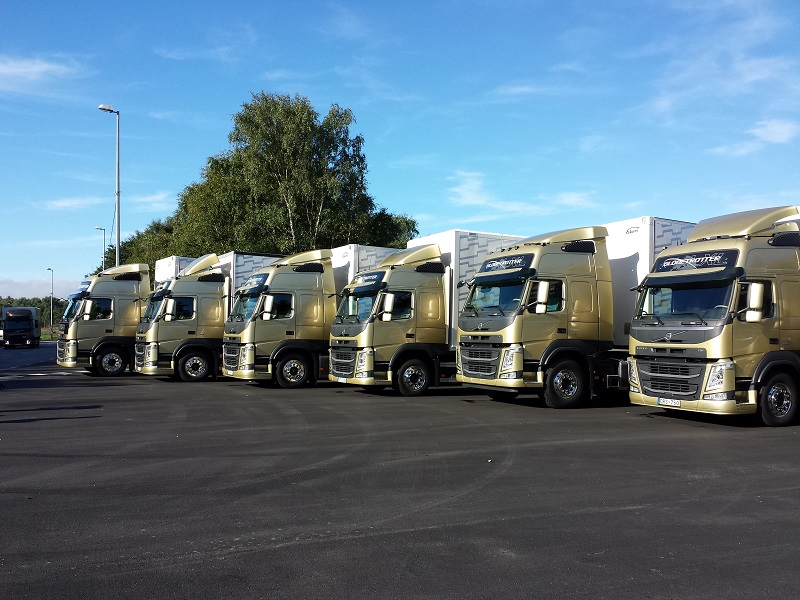 Test cu noile camioane Volvo