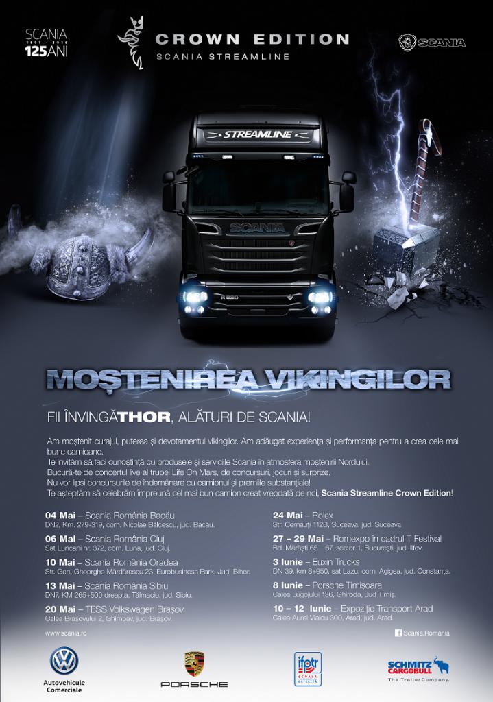 Caravana Scania pornește prin țară