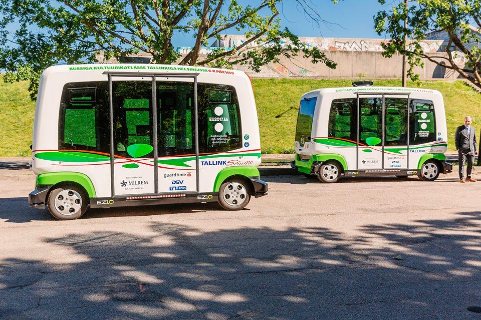 Minibusuri fără șofer la Tallinn, capitala Estoniei