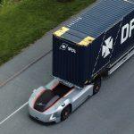 Volvo Trucks a realizat o cursă de transport autonom între un centru logistic și port